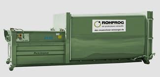AzV Gewerbeabfall Container mieten - 20 m3 Abrollpresscontainer_ROHPROG