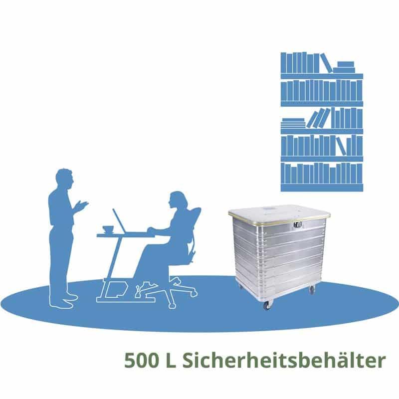 500L Sicherheitsbehälter Aktenvernichtung und Archivräumung München