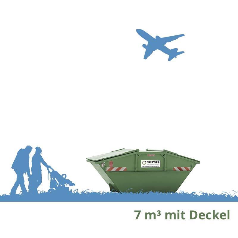 rohprog 7m³ absetzcontainer mit deckel München