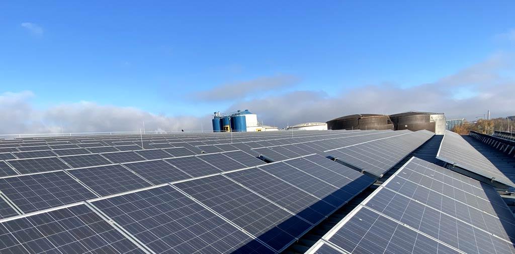 Rohprog Solaranlage Energieerzeugung für die Aktenvernichtung