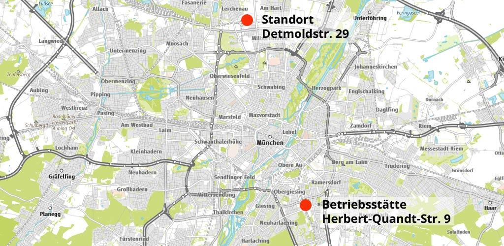 ROHPROG Standorte Karte München