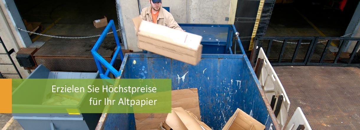 ROHPROG Altpapier Papierrecycling Preise