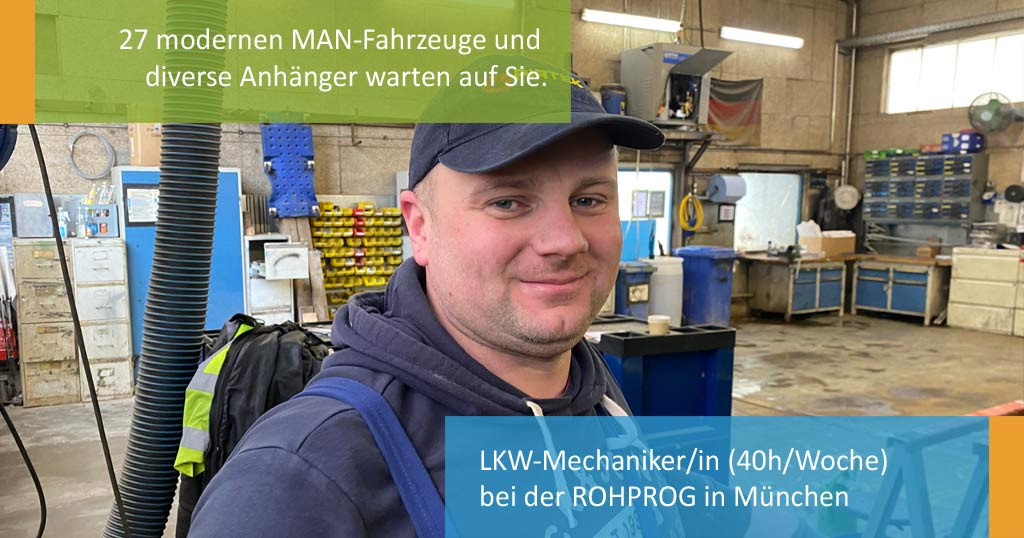 ROHPROG Stellenangebot Job LKW Mechaniker
