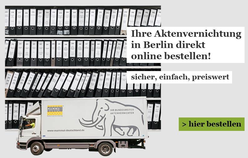 Aktenvernichtung für Berlin Onlineshop