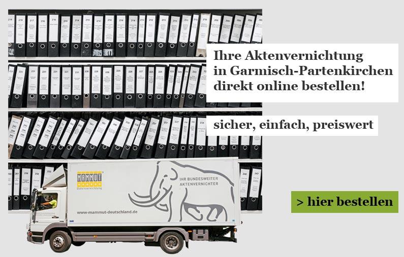 Aktenvernichtung für Garmisch-Partenkirchen Onlineshop
