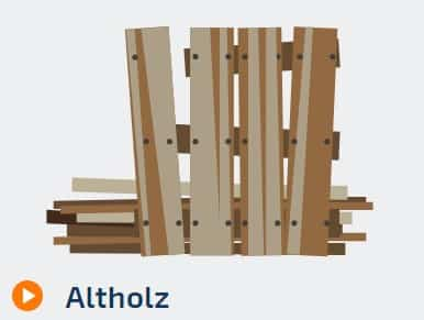 Containerdienst für Altholz Entsorgung