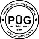 PÜG Siegel ROHPROG Entsorgungsfachbetrieb