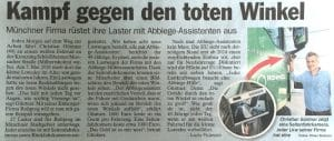 Pressemitteilung tz zu Abbiege-Assistent ROHPROG