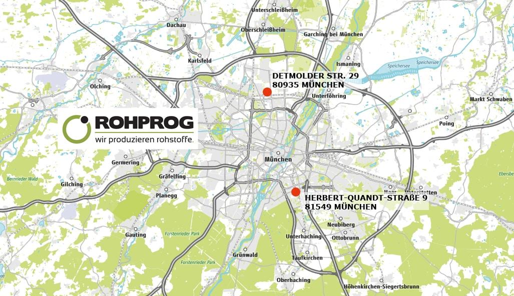 Standorte ROHPROG München Karte