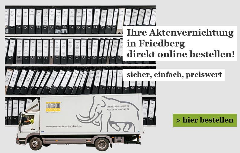 aktenvernichtung Friedberg