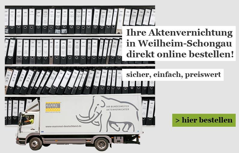 Weilheim-Schongau Aktenvernichtung